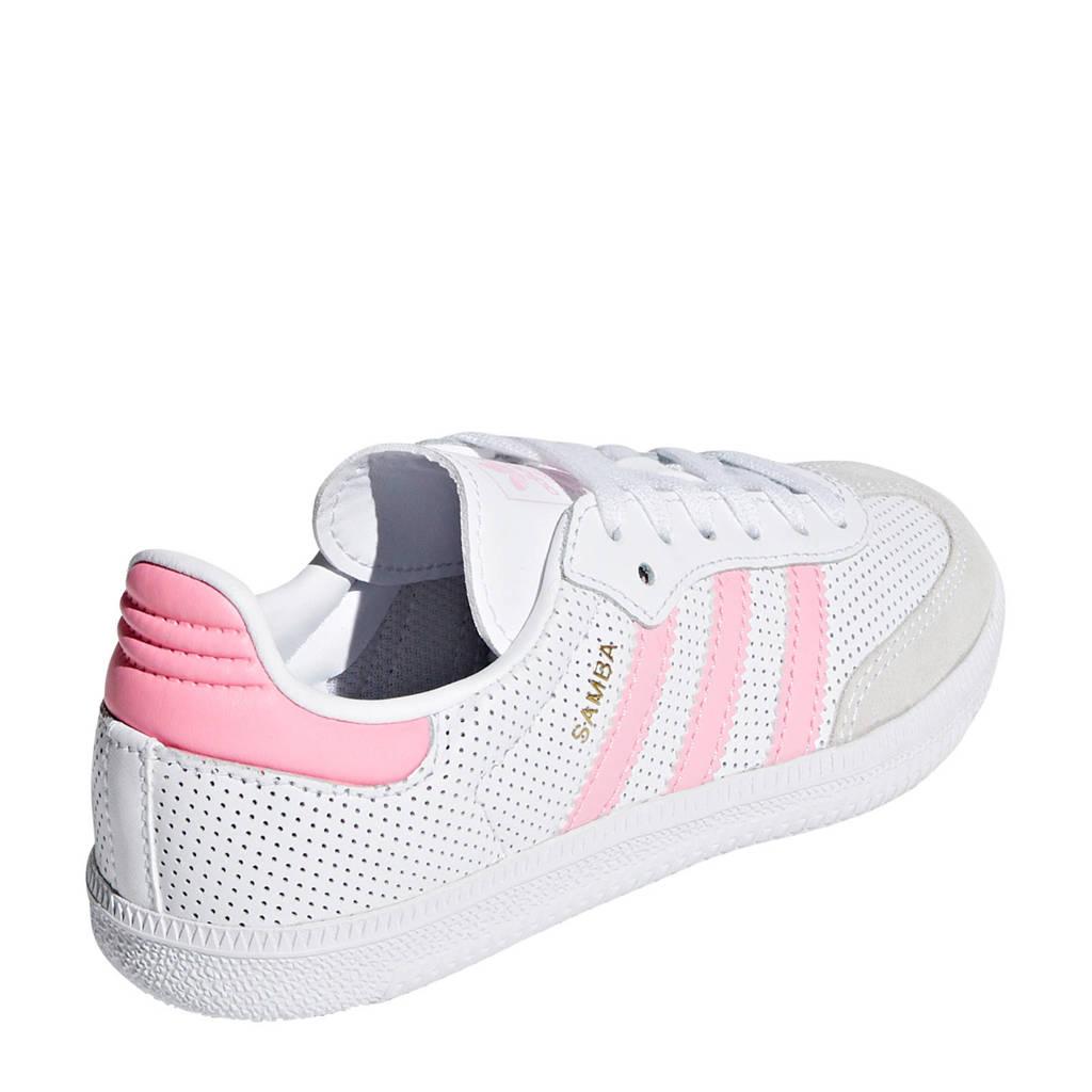adidas originals  Samba OG C sneakers wit/roze, Wit/roze