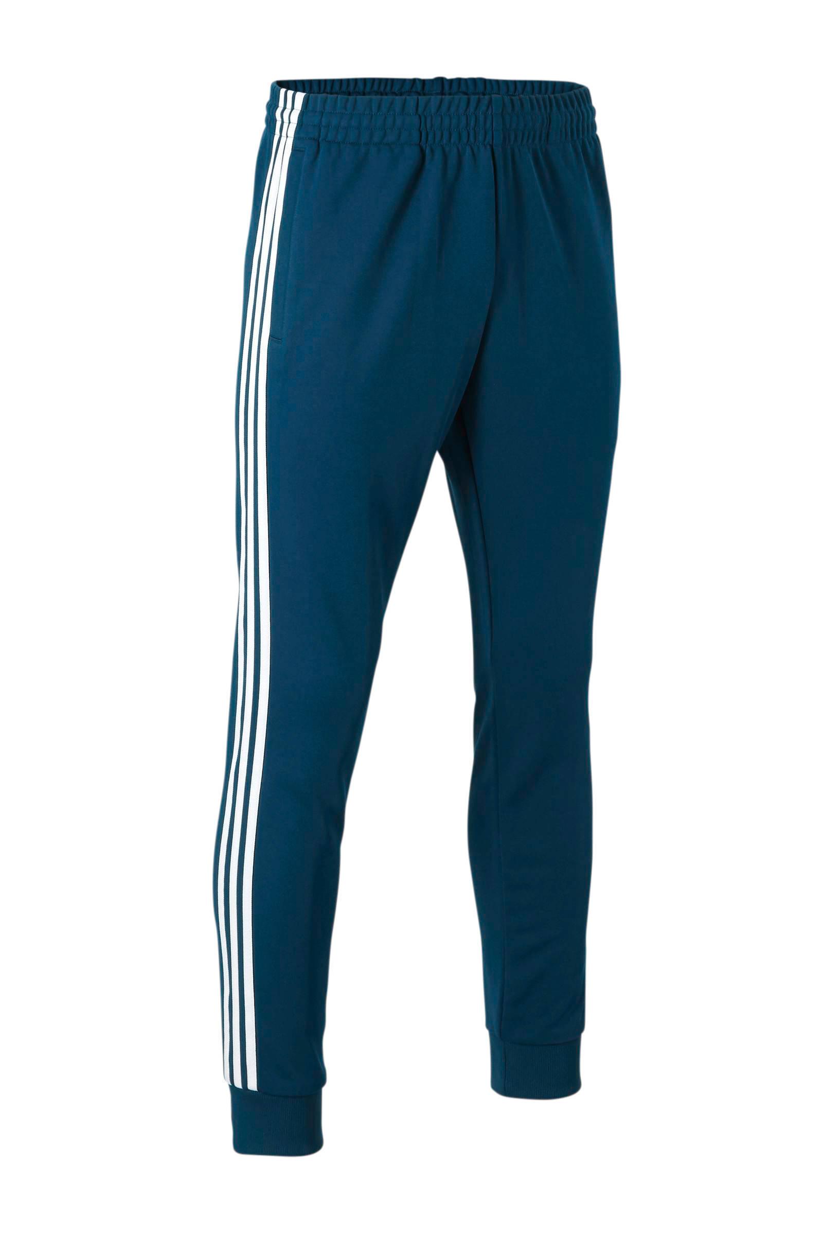 regular fit joggingbroek petrol/wit