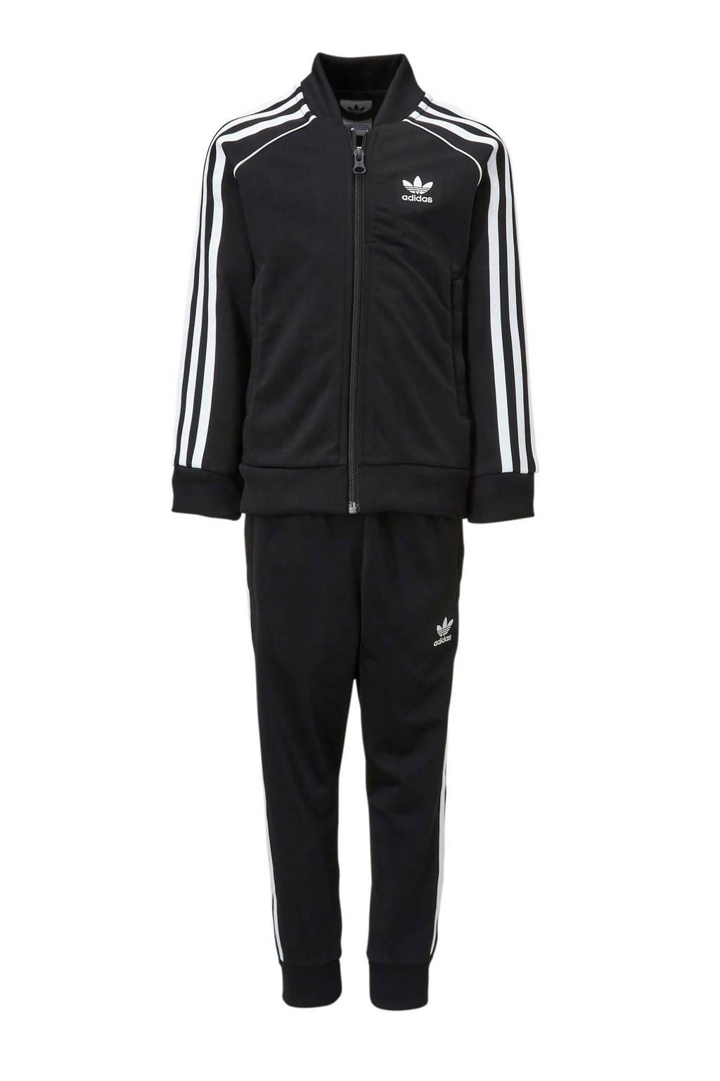 adidas Originals   trainingspak zwart, Zwart