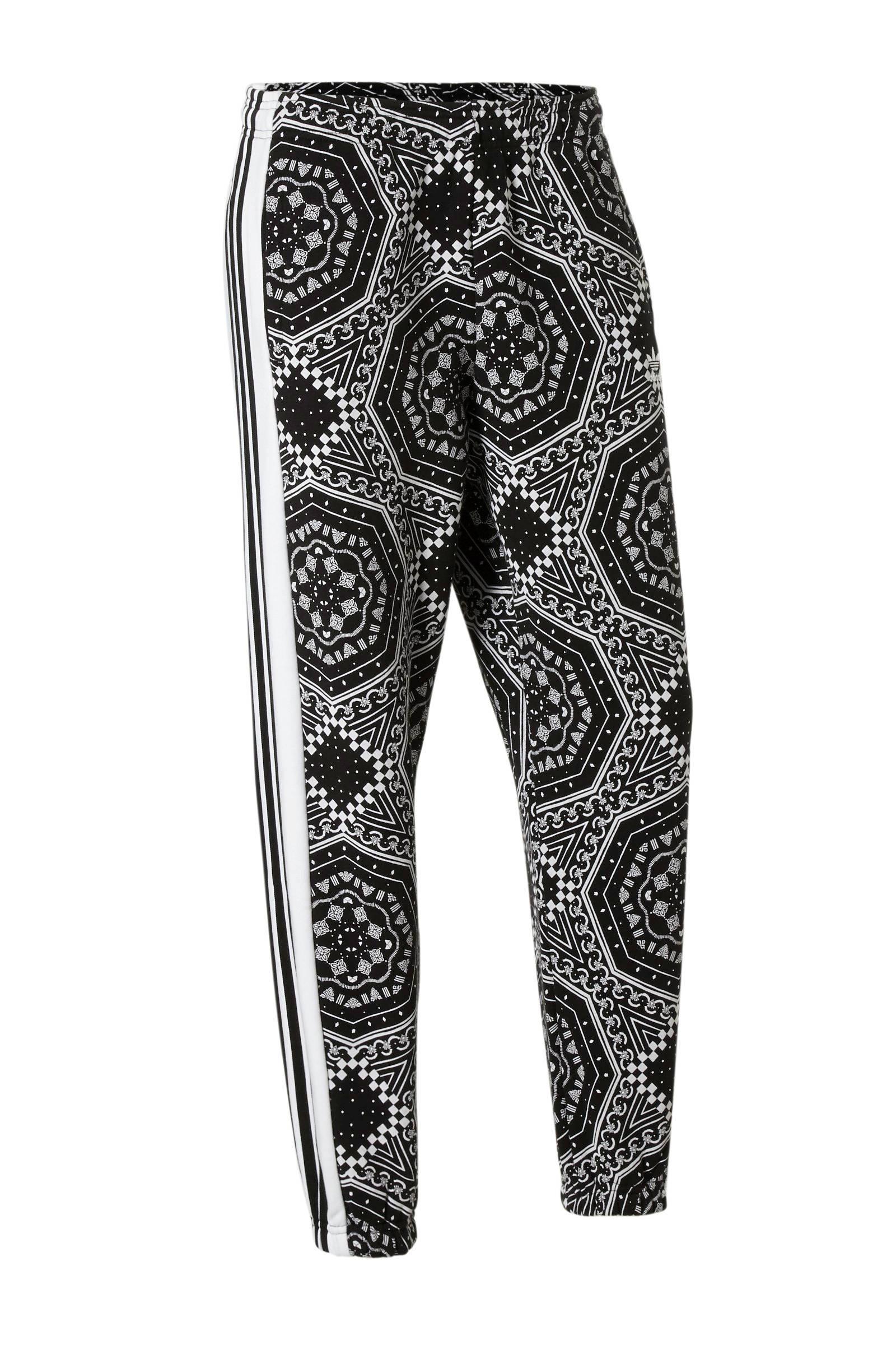 987ab7f8828 adidas originals joggingbroek zwart/wit   wehkamp