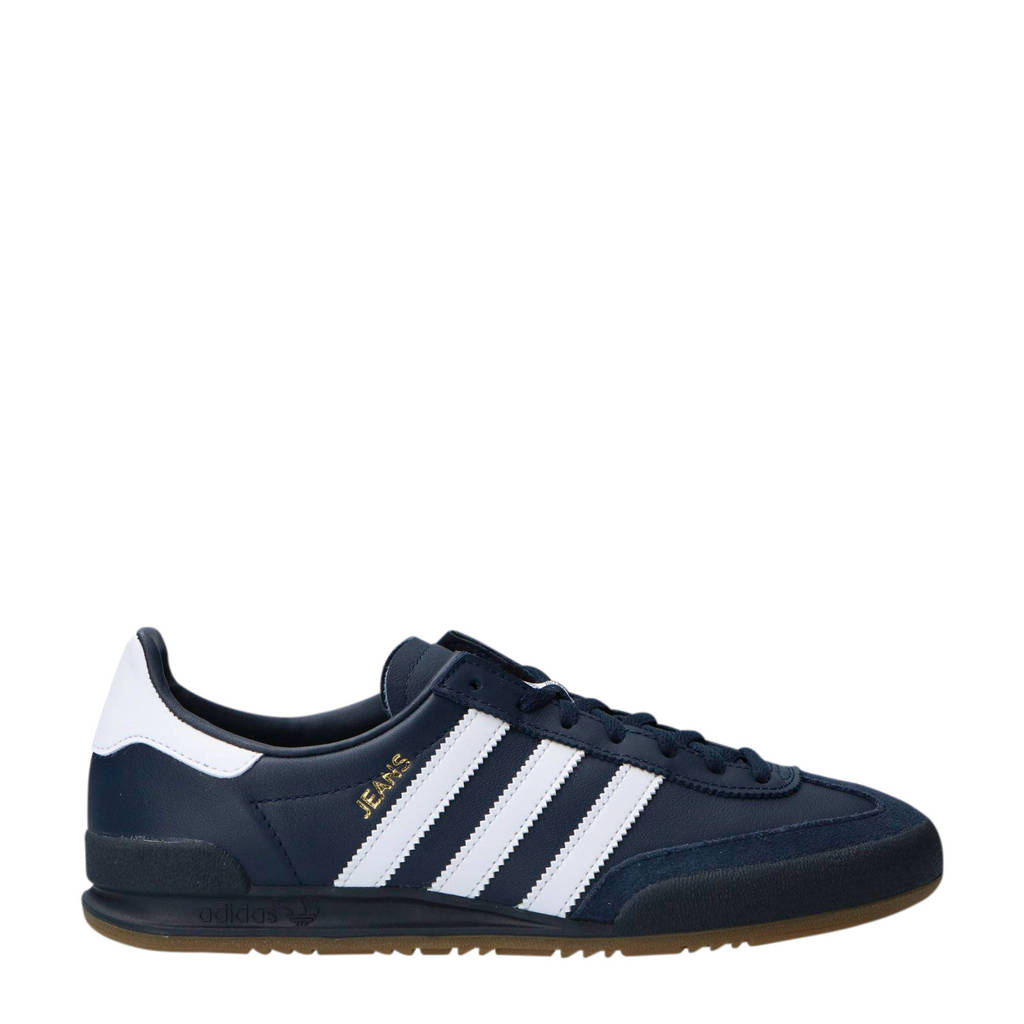Jeans Adidas Donkerblauw Sneakers Originals Leer wit H8wq58