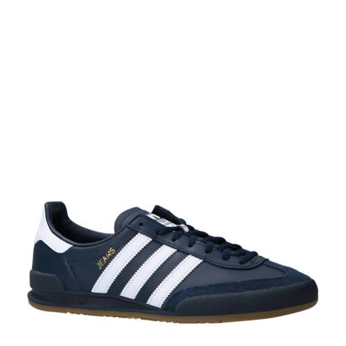 adidas originals Jeans leer sneakers donkerblauw-wit