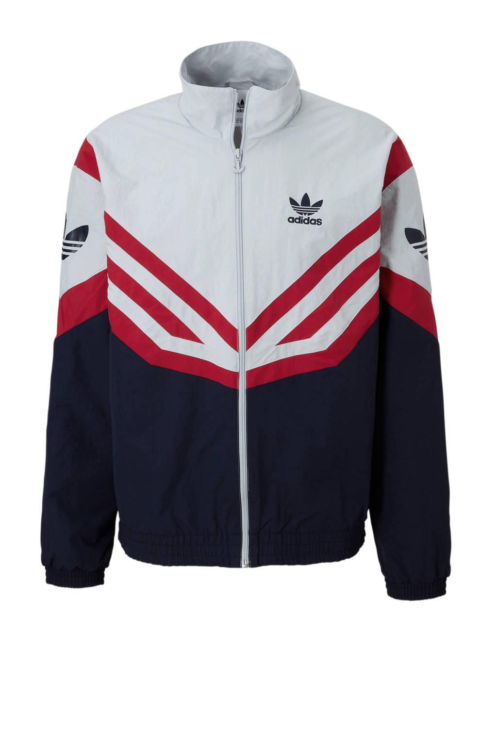adidas originals   jack, Grijs/rood/donkerblauw