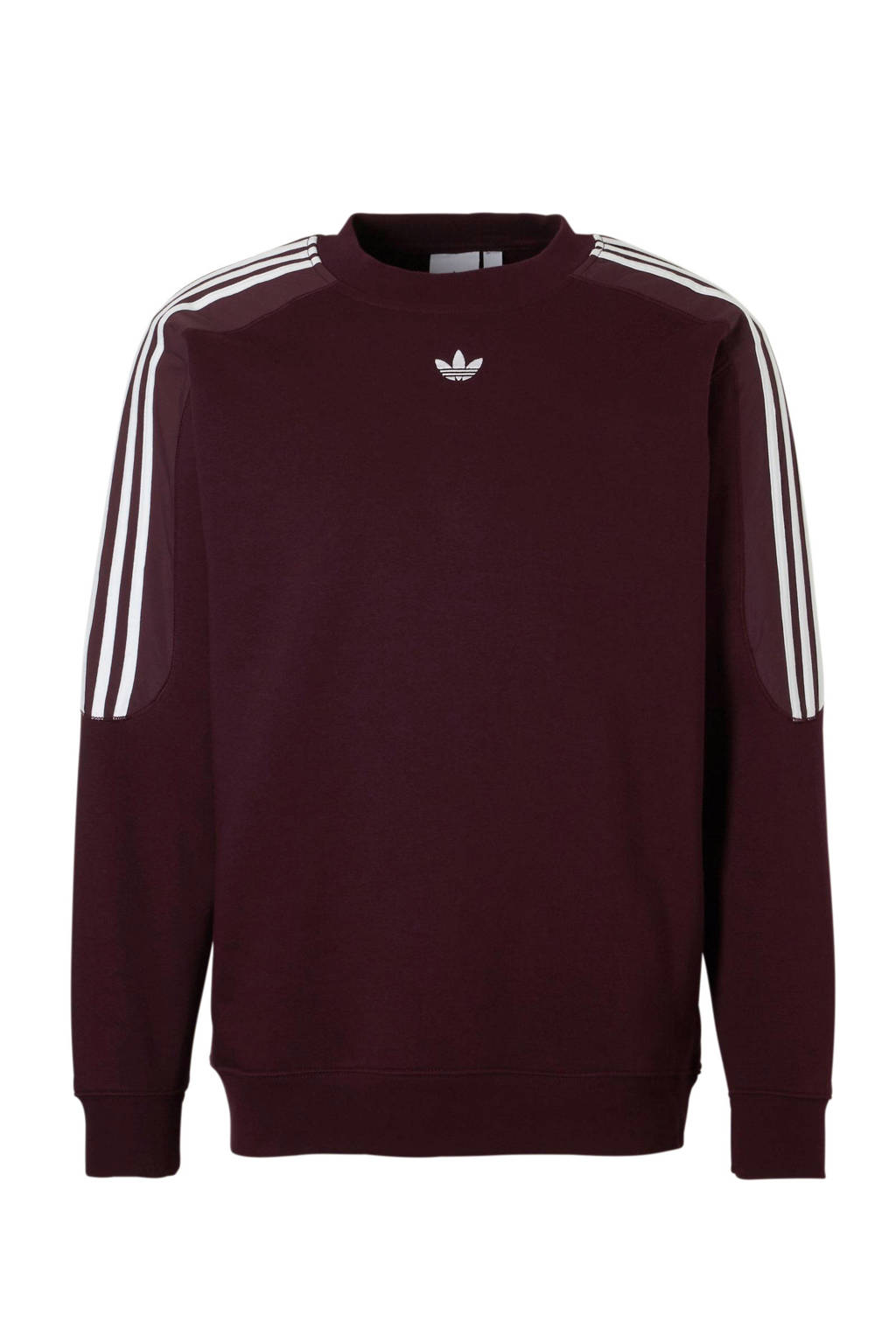 adidas originals   sportsweater donkerrood, Donkerrood/wit