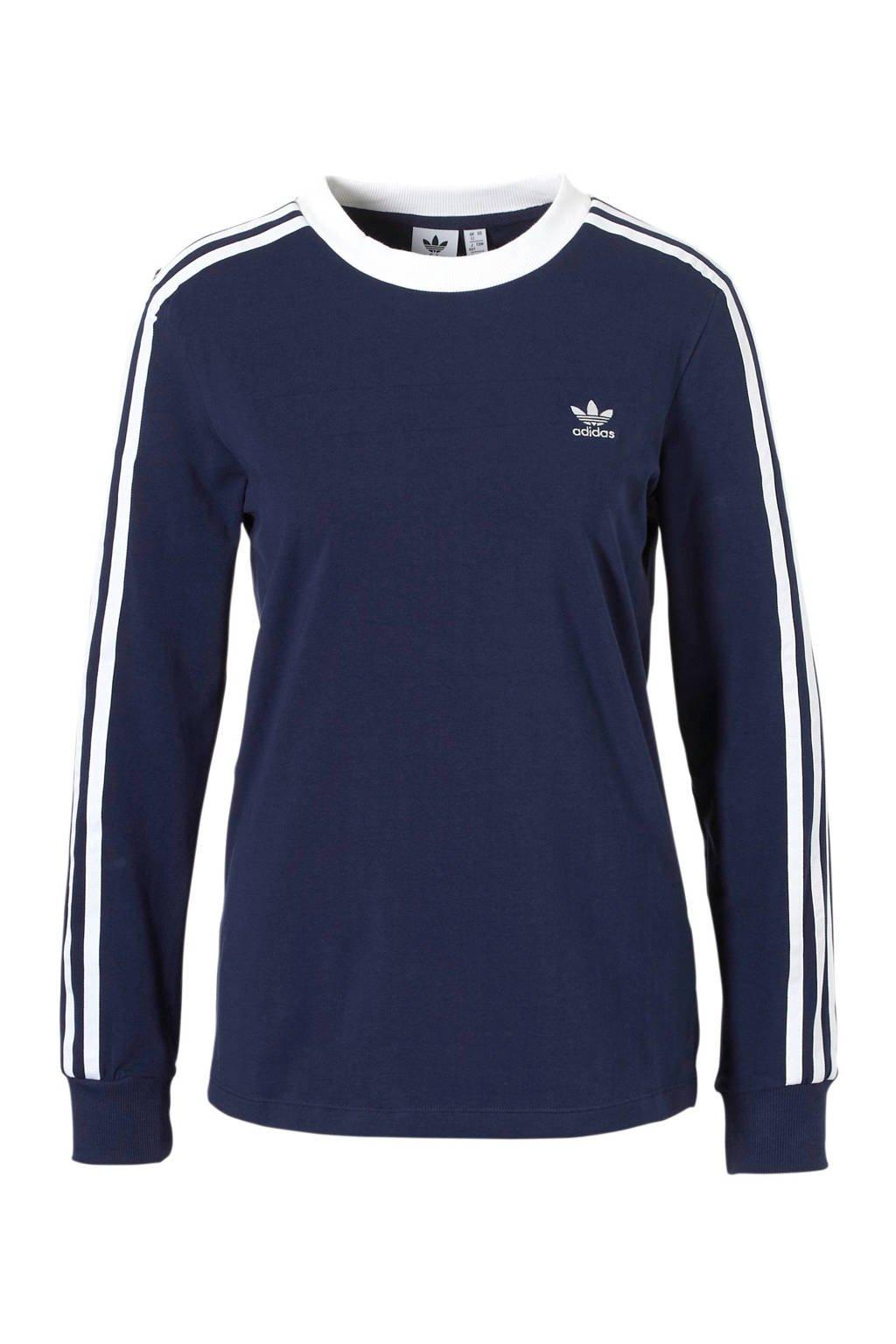 adidas originals T-shirt donkerblauw, Donkerblauw/wit