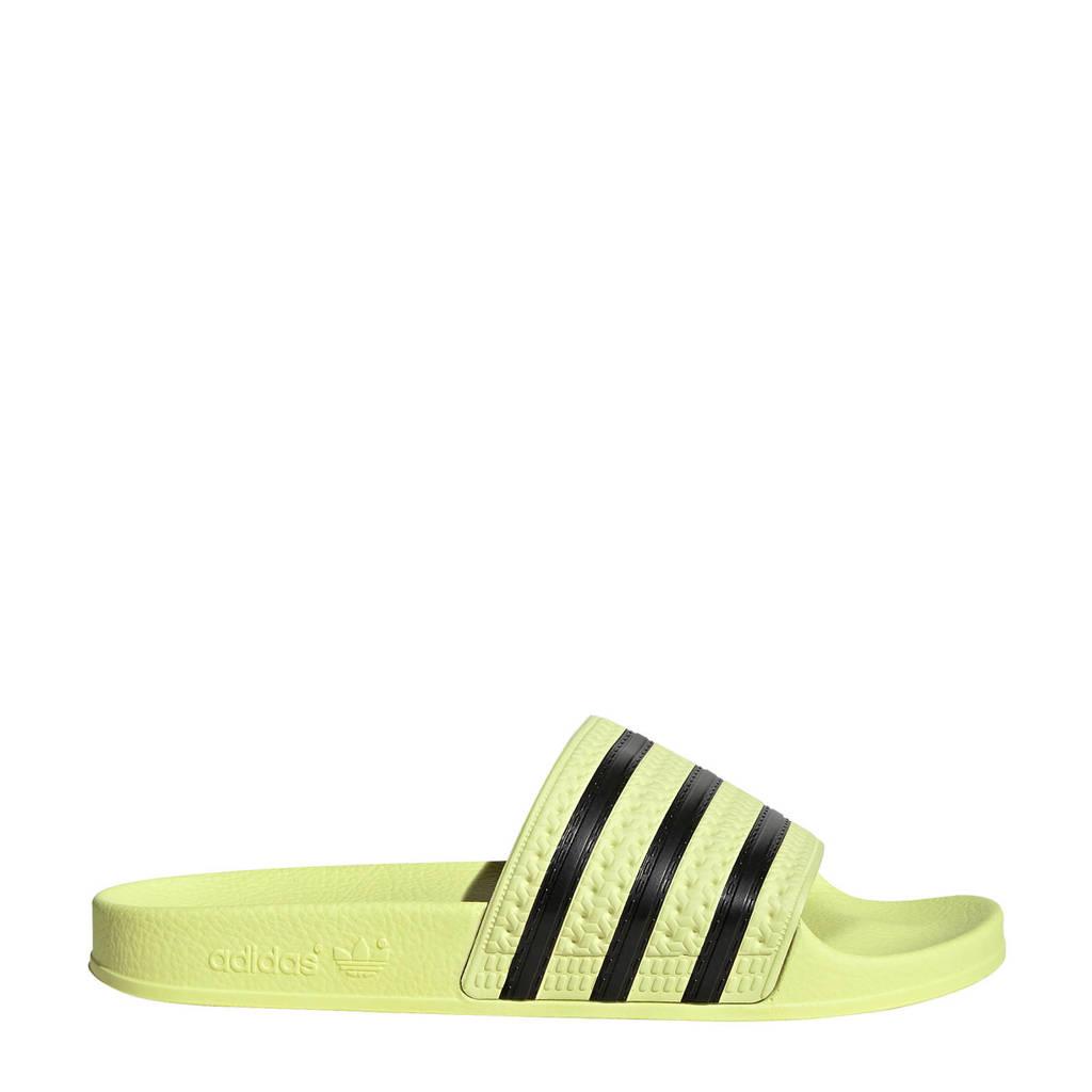 665d8bae743 adidas originals adilette aqua badslippers geel/zwart, Geel/zwart
