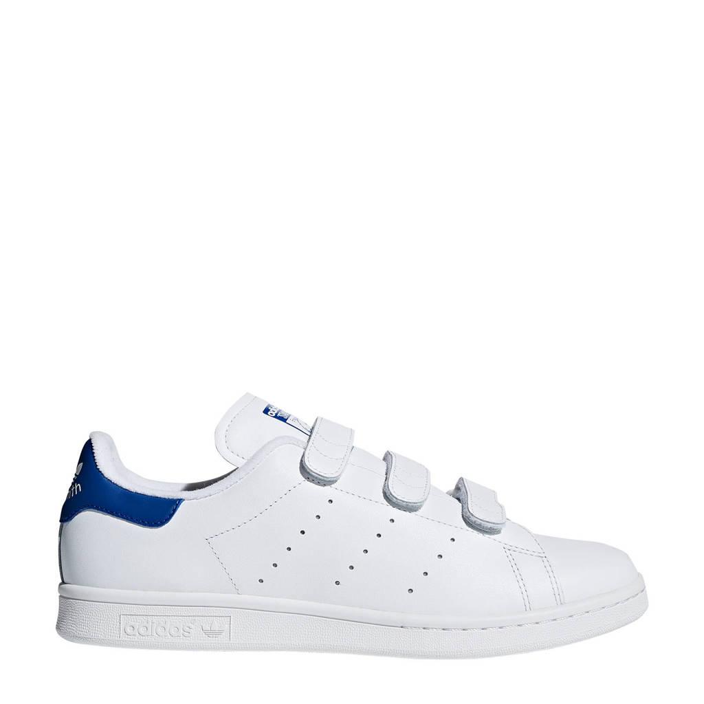 adidas originals Stan Smith CF leren sneakers wit/kobaltblauw, Wit/blauw