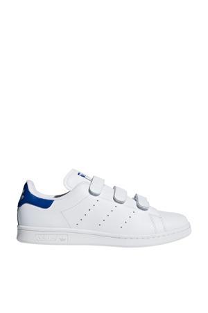Stan Smith CF leren sneakers wit/kobaltblauw