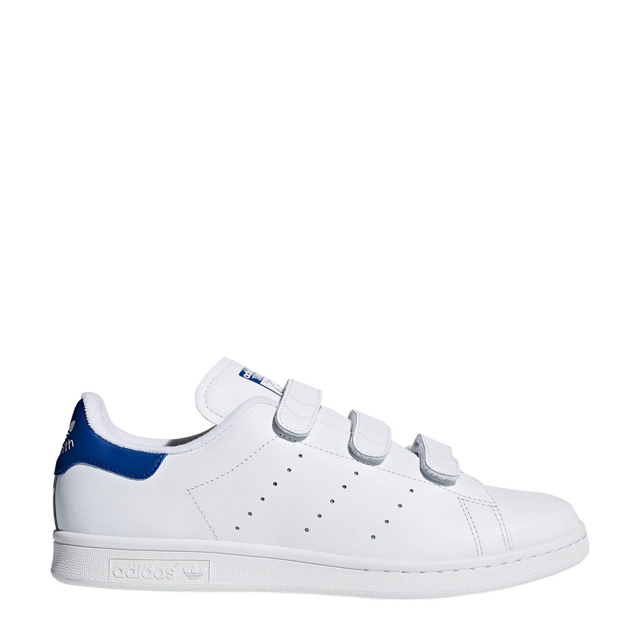 14d0bf08f17 adidas originals Stan Smith CF sneakers wit/blauw | wehkamp