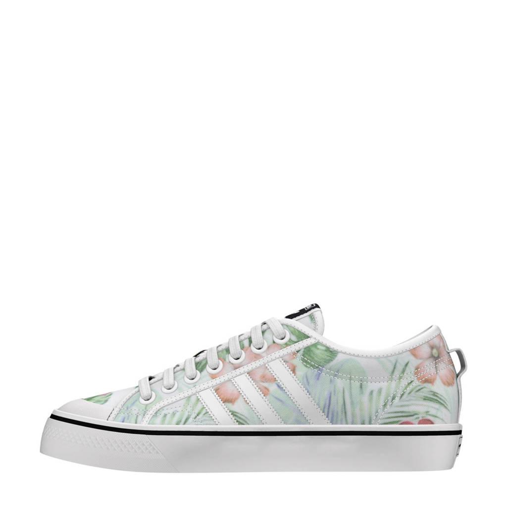 adidas originals NIZZA W sneakers bloemenprint, Wit