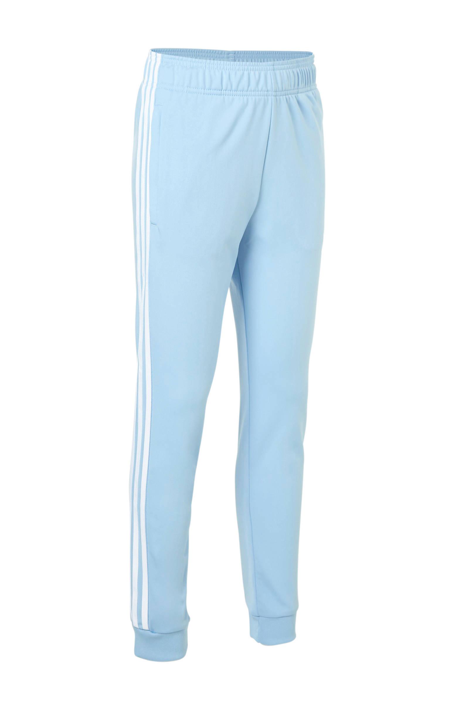 adidas originals trainingsbroek lichtblauw | wehkamp