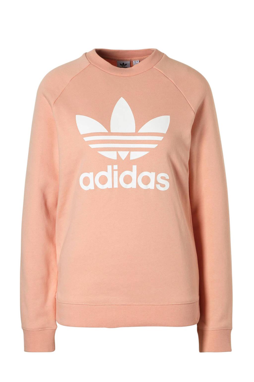 adidas originals sweater zalmroze, Zalmroze