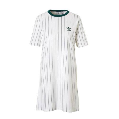 adidas originals T-shirt jurk wit-groen