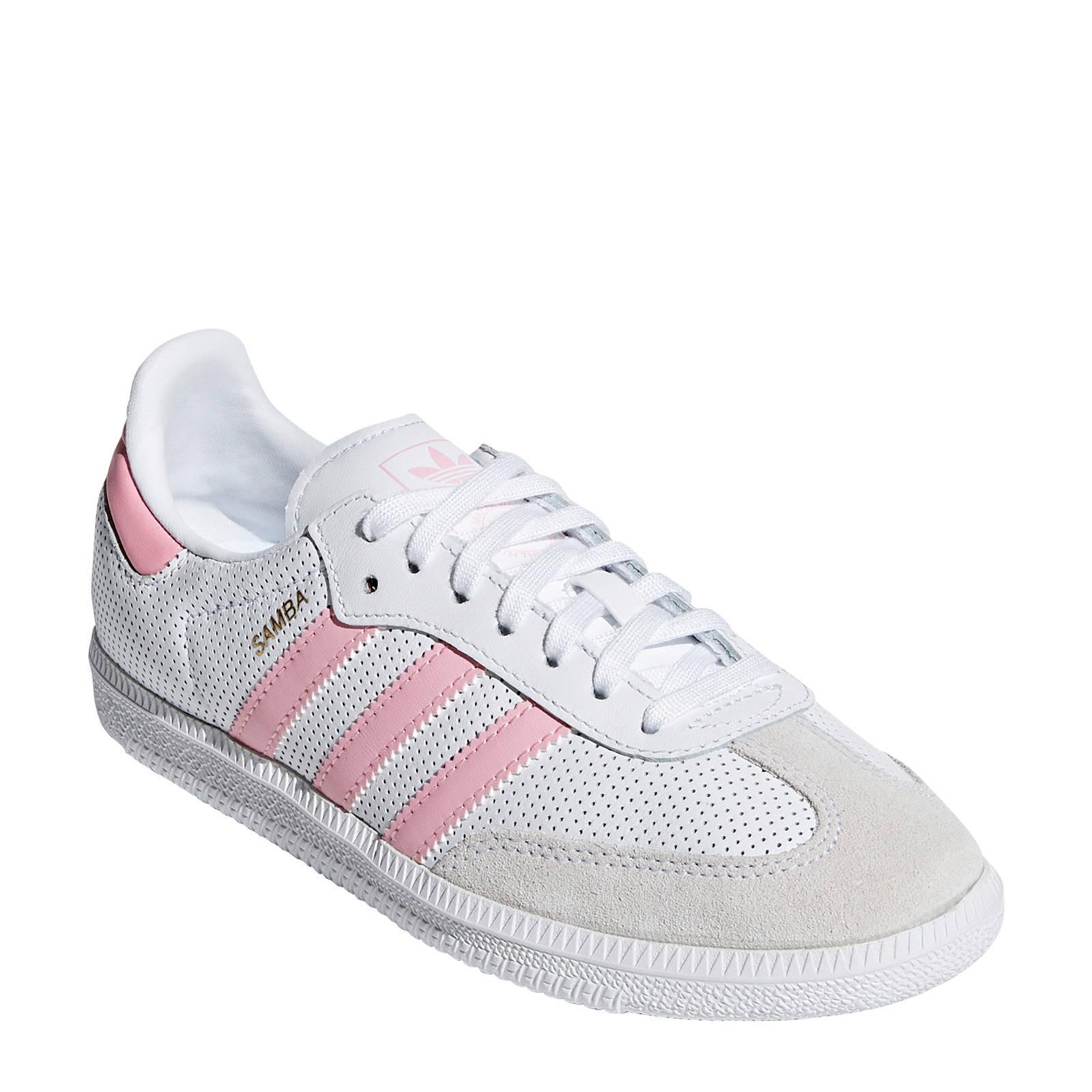 adidas schoenen wit met roze