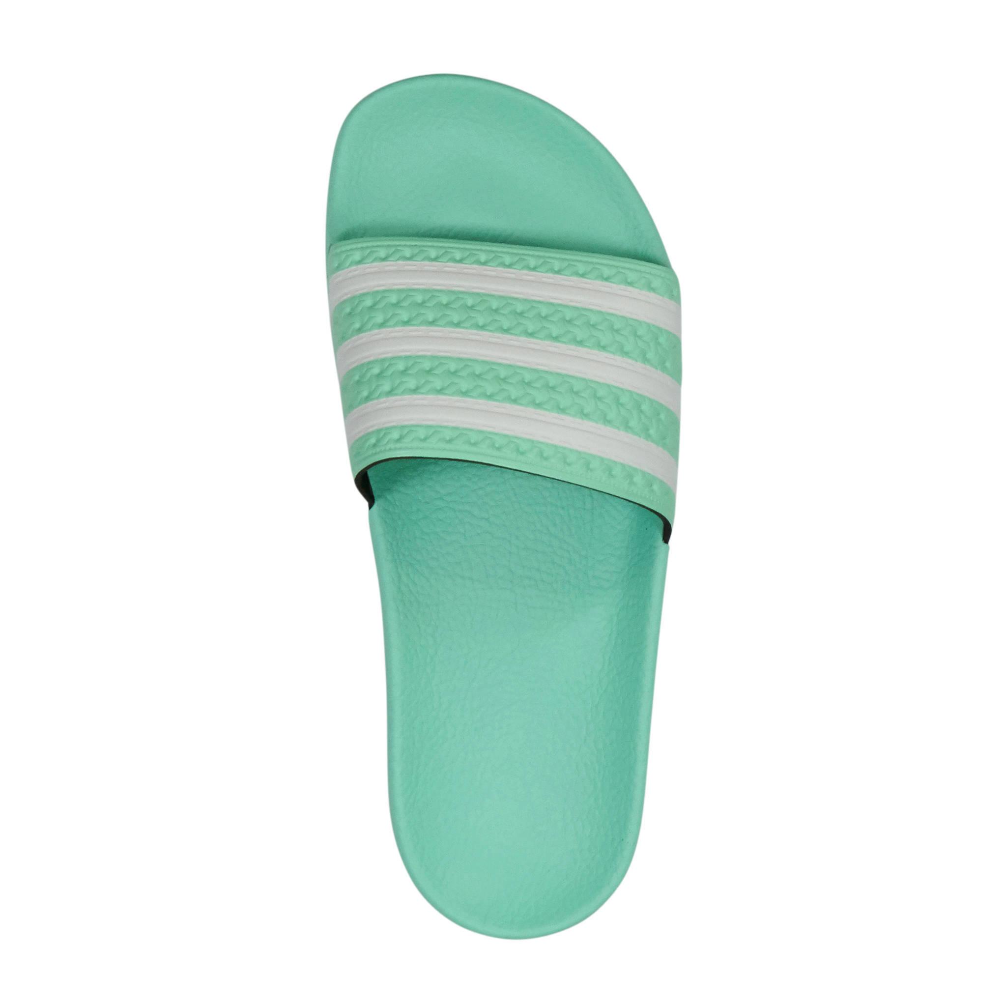 adidas slippers dames mintgroen