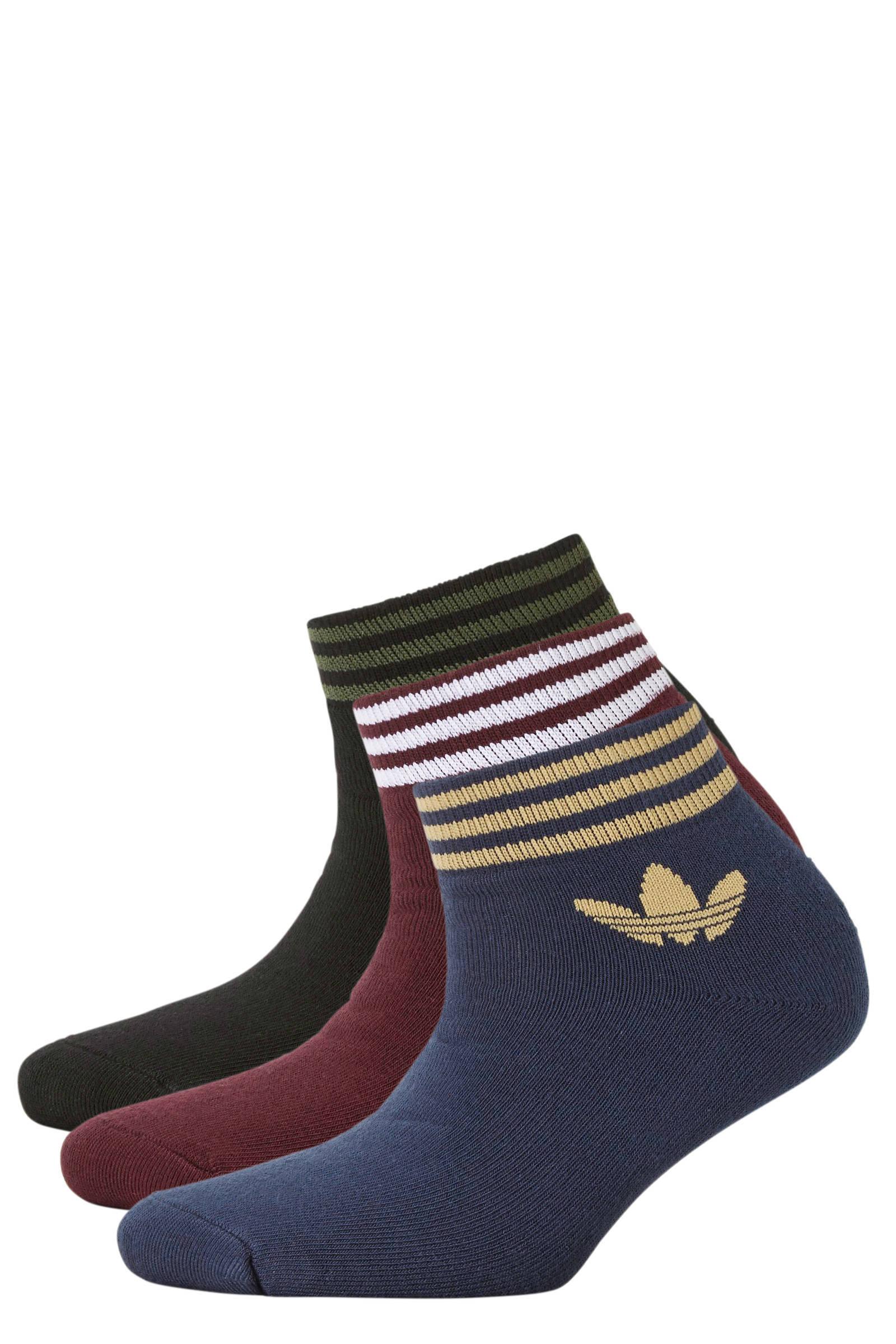 adidas Originals sneakersokken (set van 3) | wehkamp