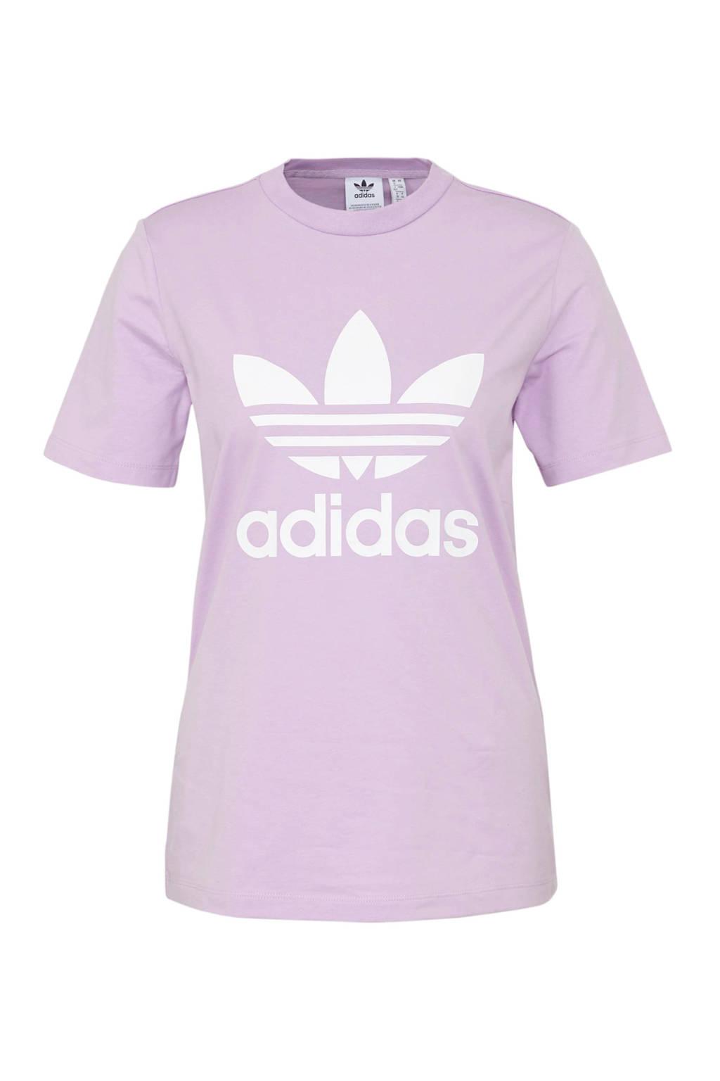 adidas originals T-shirt paars, Paars/wit, Dames