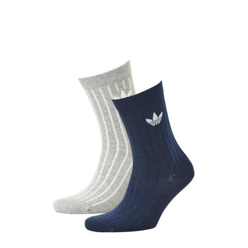 sokken (set van 2) donkerblauw-grijs