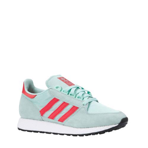 adidas originals Forest Grove W suède sneakers mintgroen