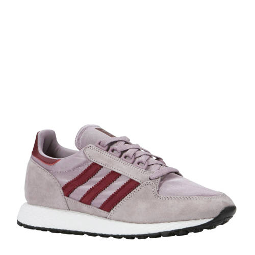 adidas originals Forest Grove W suède sneakers lila-donkerrood