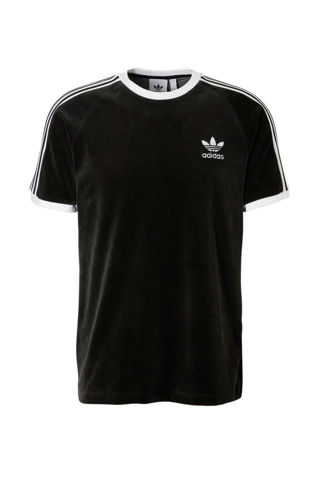 adidas originals   T-shirt zwart, Zwart/wit