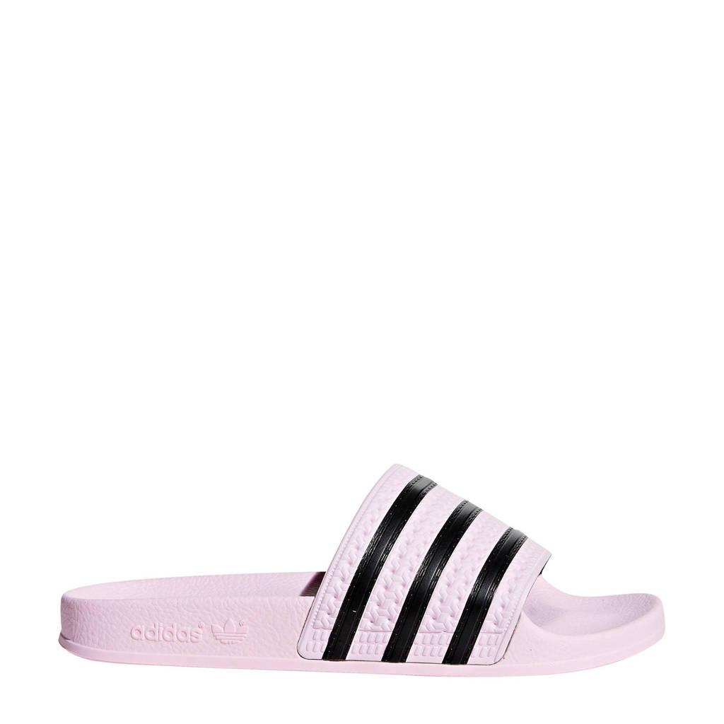 adidas originals adilette aqua badslippers roze/zwart, Roze/zwart