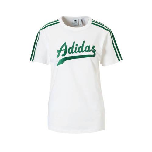 adidas originals T-shirt wit-groen