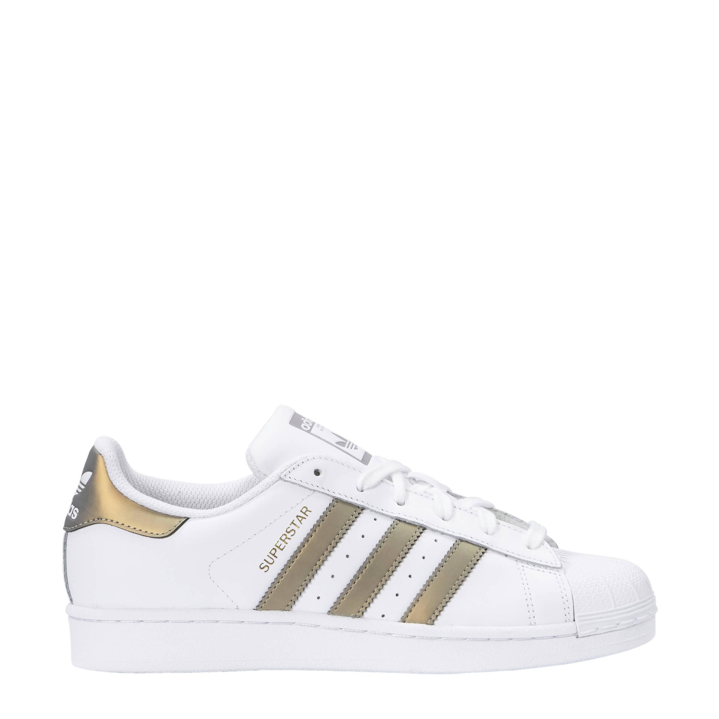 timeless design 7b5f1 218c3 adidas originals Superstar sneakers wit brons   wehkamp