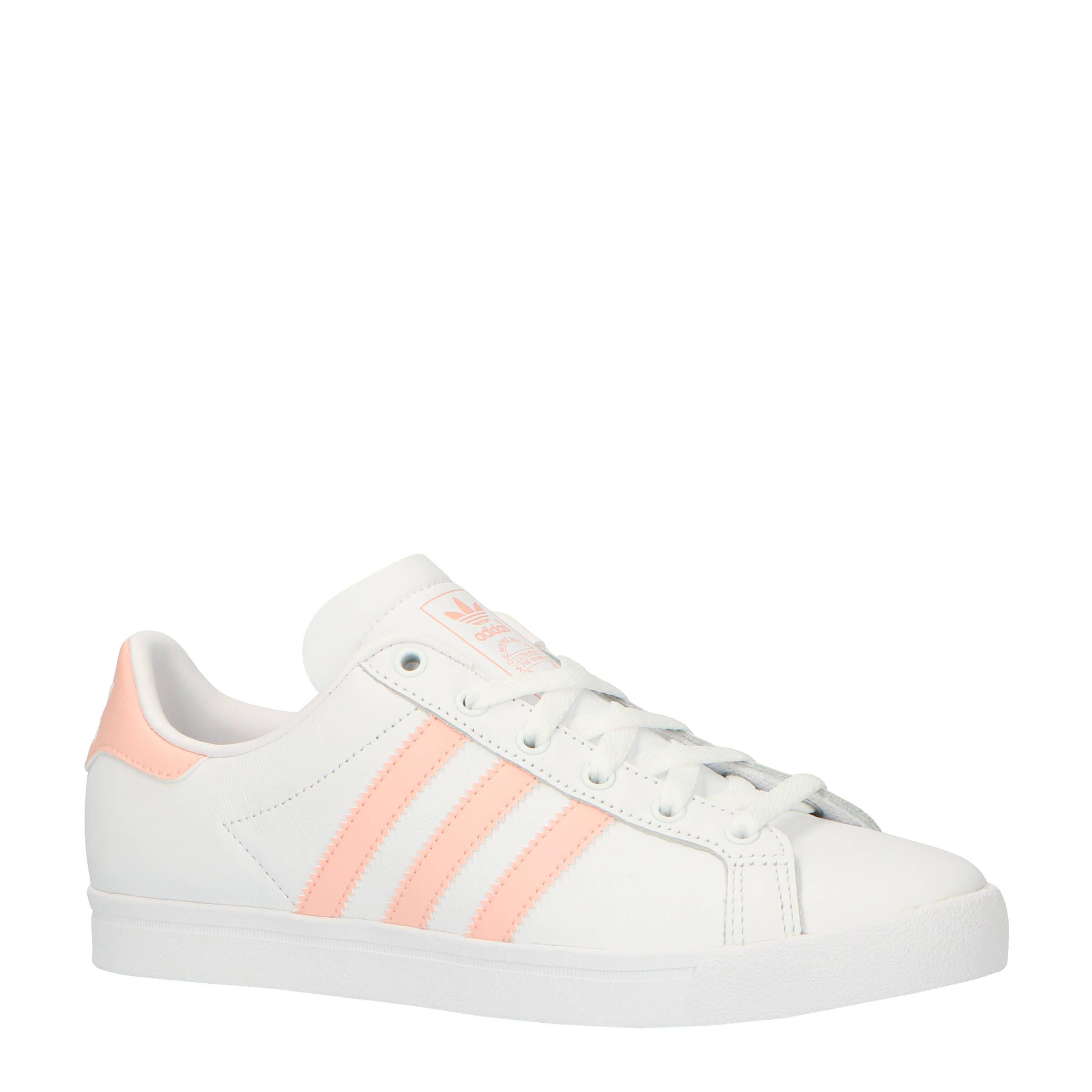 adidas originals Coast Star J sneakers wit/zalmroze | wehkamp