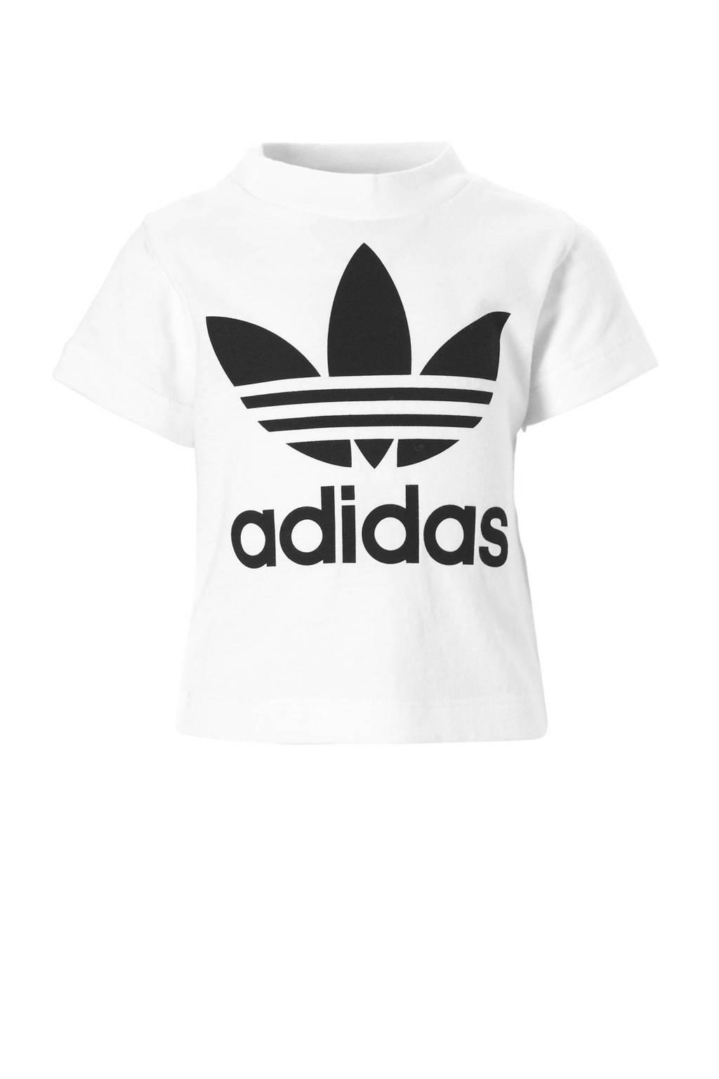 adidas originals T-shirt, Wit/zwart