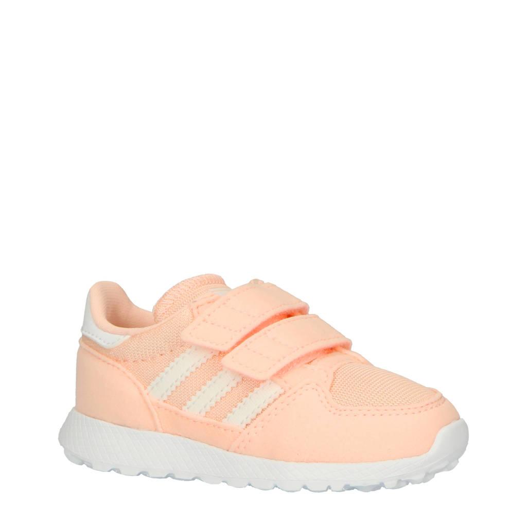 adidas originals  Forest Grove CF I suède sneakers lichtbeige/roze, Roze/wit