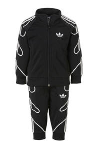 adidas Originals   trainingspak zwart, Zwart/wit