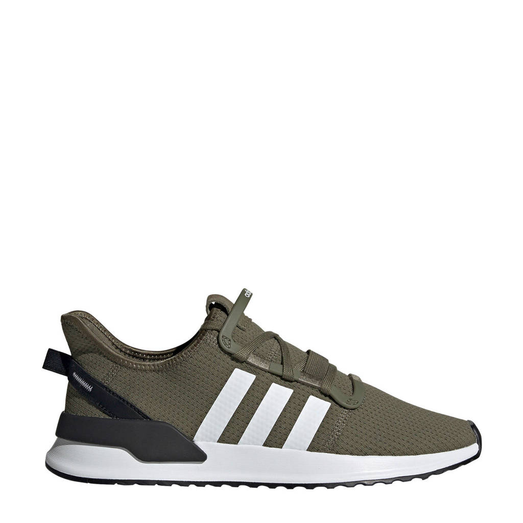 adidas originals  U_Path Run sneakers kaki, Kakigroen/wit/zwart