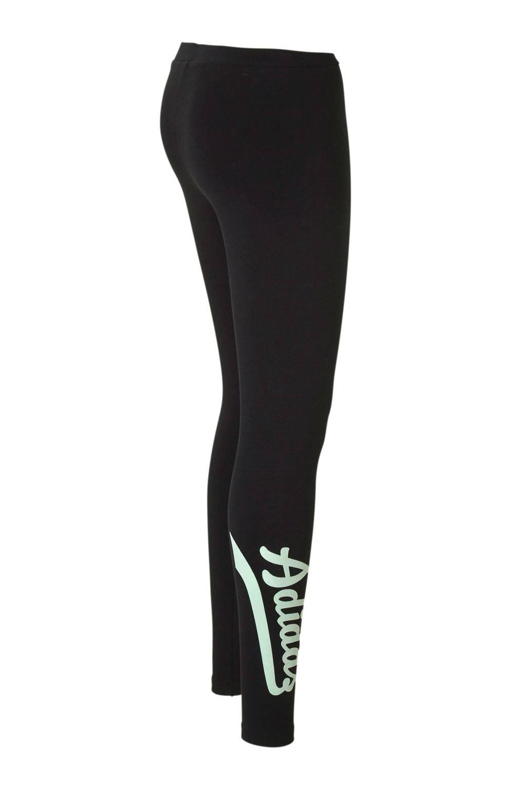 367618122bd adidas originals 7/8 legging zwart, Zwart/lichtgroen