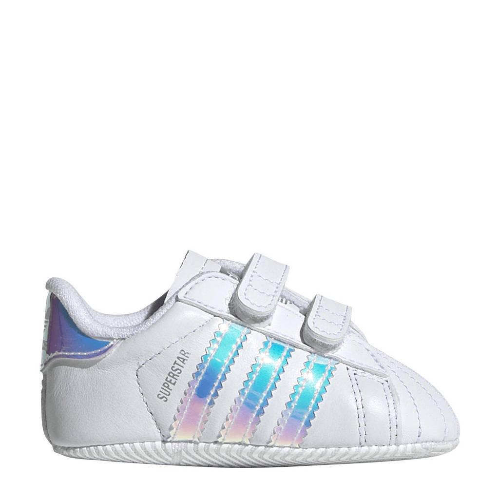 f549b705431 adidas originals Superstar Crib sneakers, wit/metallic