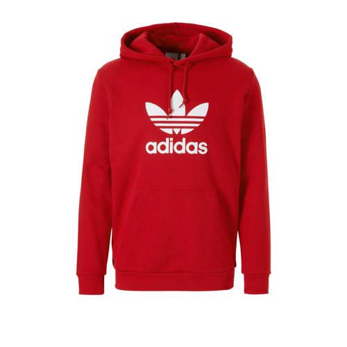 adidas originals hoodie rood