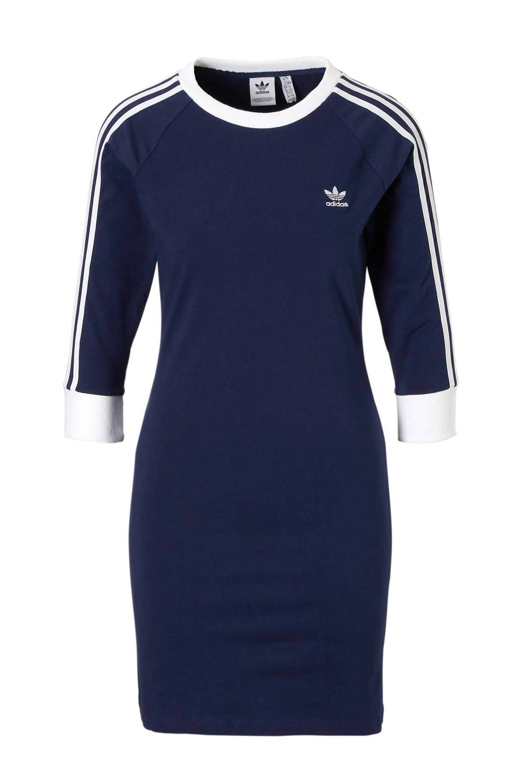 adidas originals jurk donkerblauw, Donkerblauw/wit