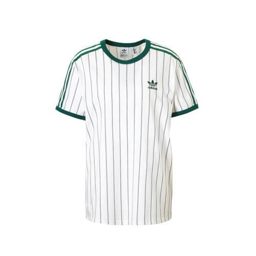 adidas originals oversized T-shirt wit-groen