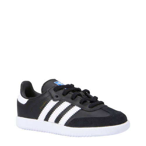 adidas originals Samba OG EL I kids sneakers zwart-wit