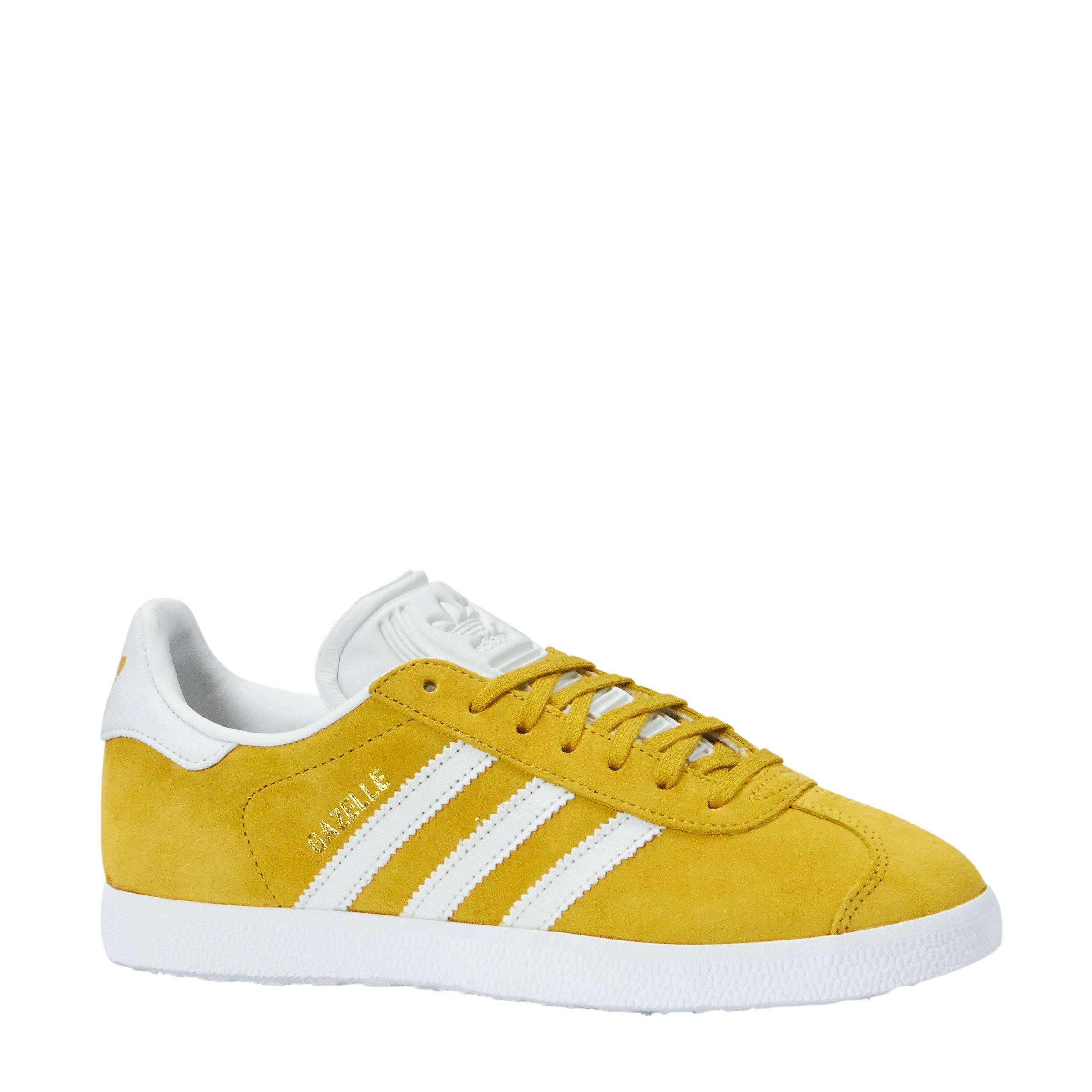 adidas Originals Gazelle sneakers okergeel/wit | wehkamp