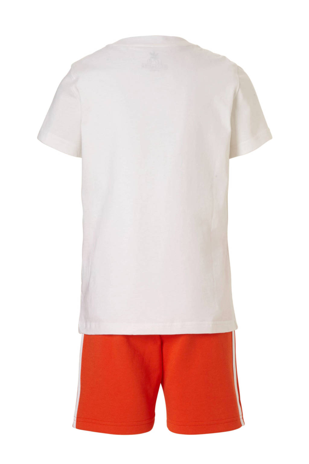 adidas Originals shirt + short rood/wit, Rood/wit