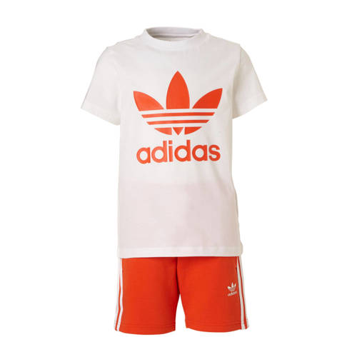 adidas originals originals sportset rood-wit