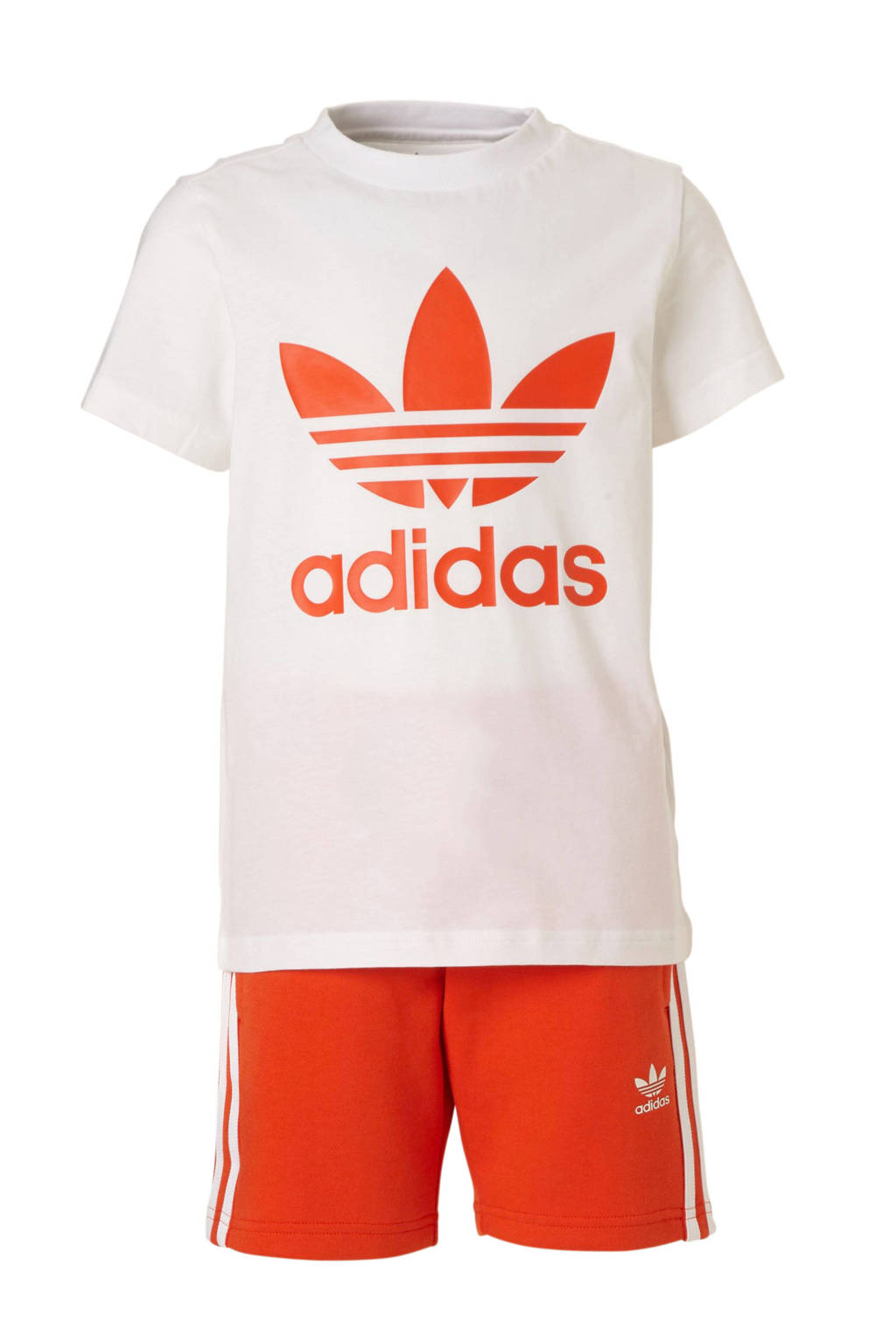 adidas originals shirt + short rood/wit, Rood/wit