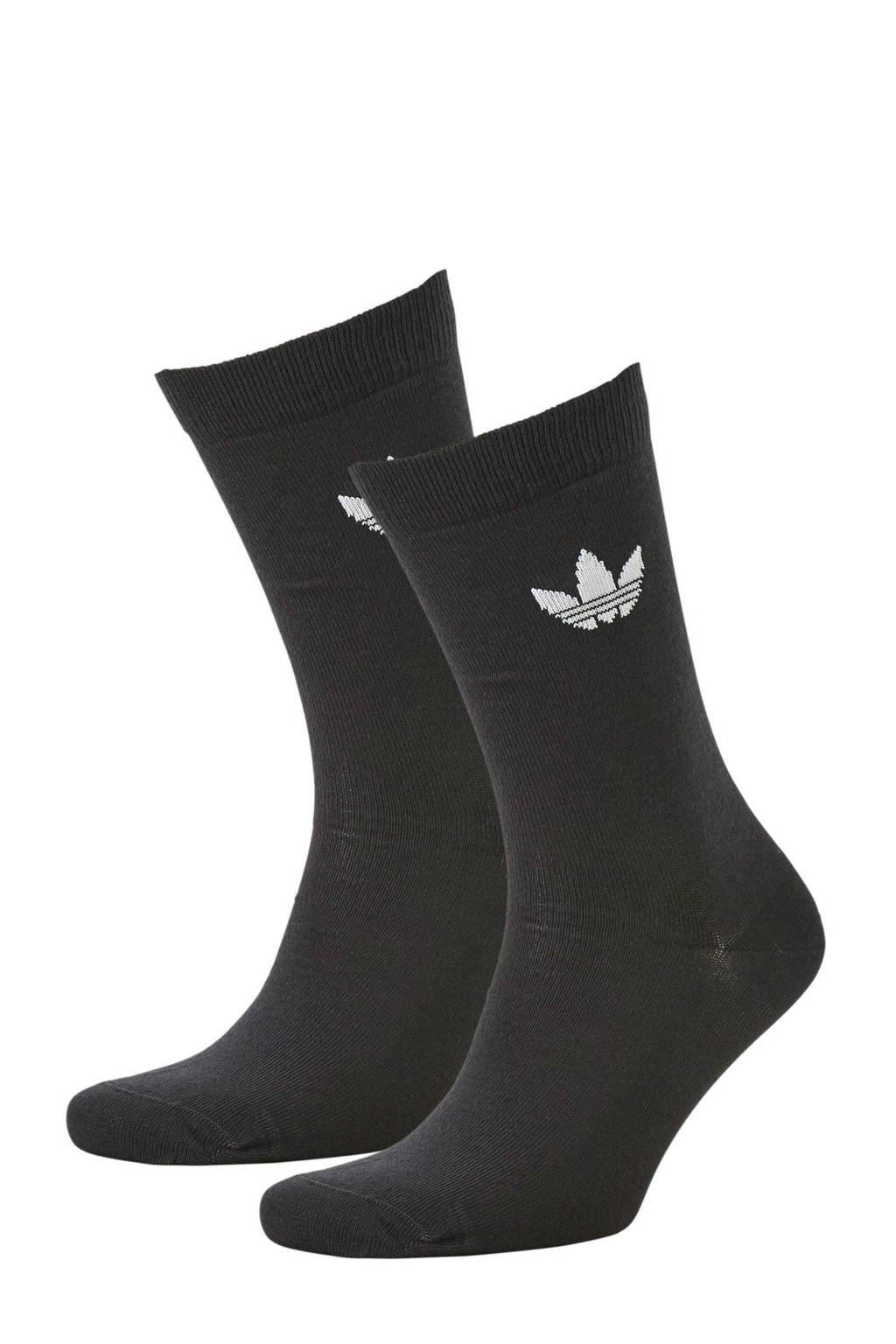 adidas originals   sokken (set van 2) zwart, Zwart