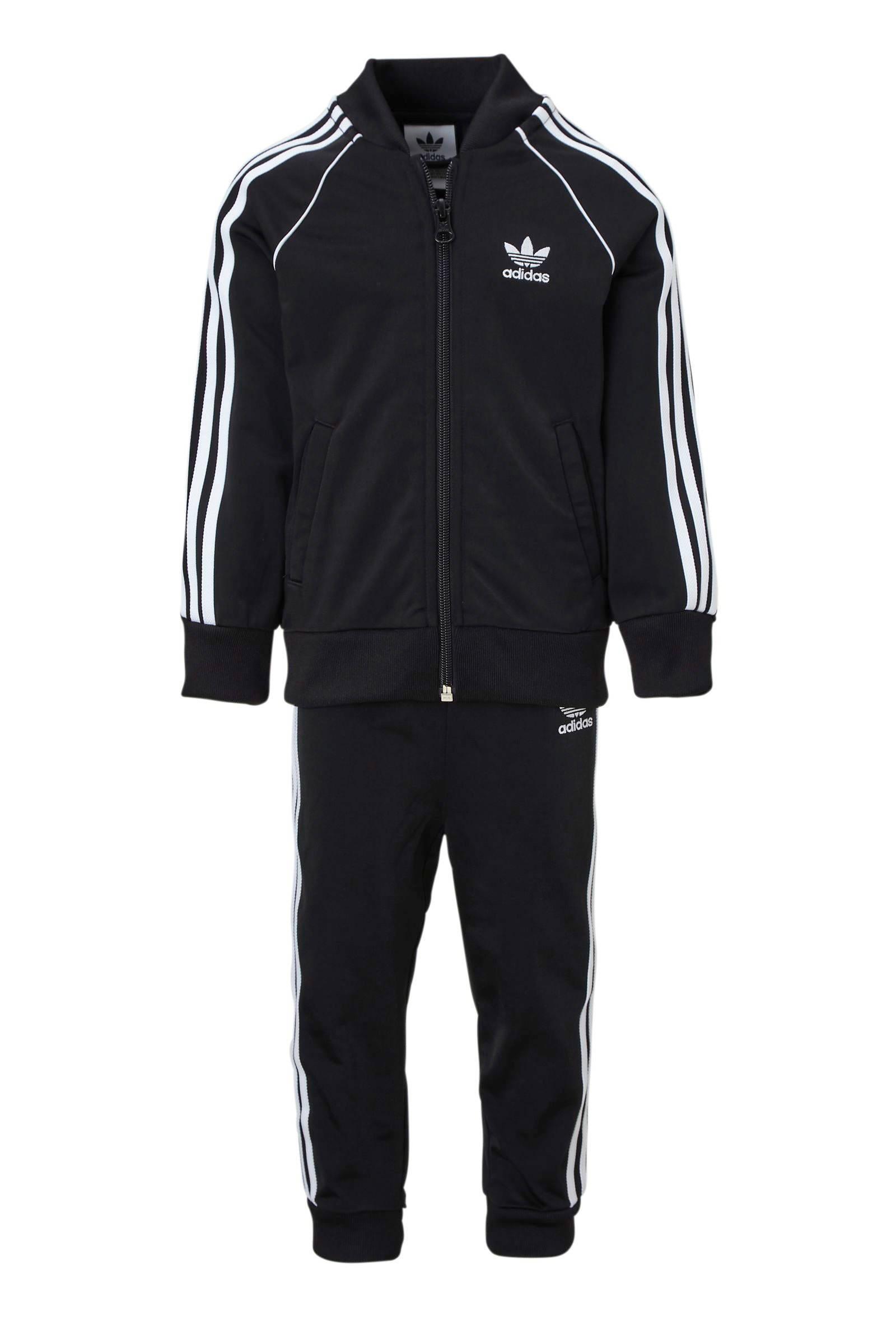 adidas Originals trainingspak zwart | wehkamp