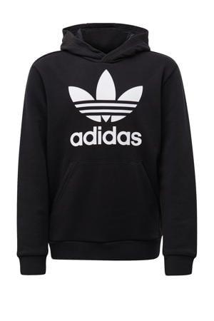 unisex Adicolor hoodie zwart/wit