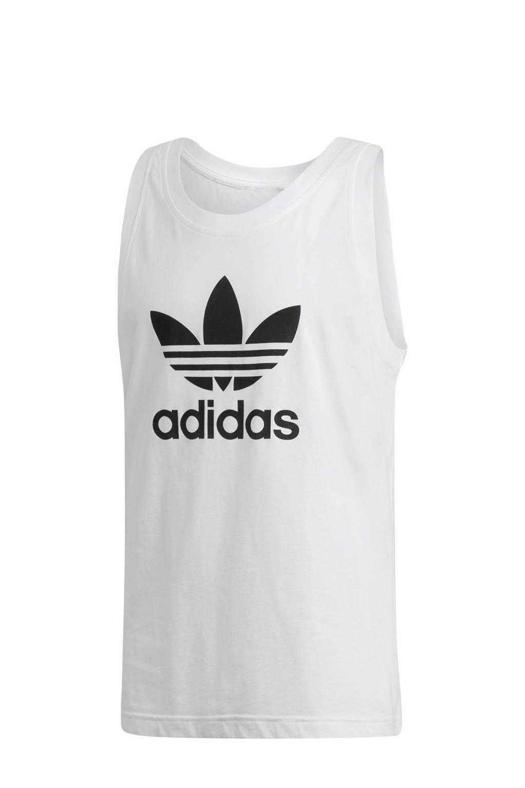 adidas originals   singlet wit, Wit/zwart