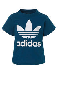 adidas Originals T-shirt blauw, Blauw/wit