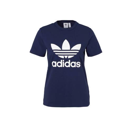 adidas originals T-shirt donkerblauw kopen