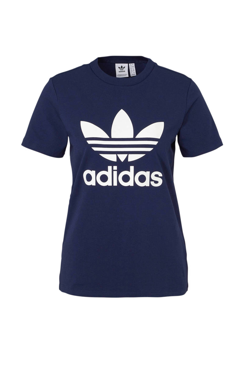 cae4d03cc38 adidas originals T-shirt donkerblauw, Donkerblauw/wit, Dames